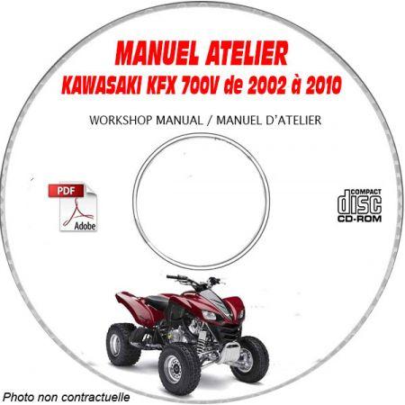 KFX 700V 03-07 Manuel Atelier CDROM KAWASAKI Anglais
