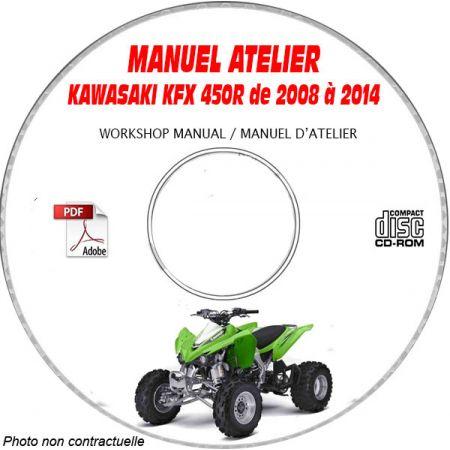 KFX 450R08- 10 Manuel Atelier CDROM KAWASAKI Revue technique