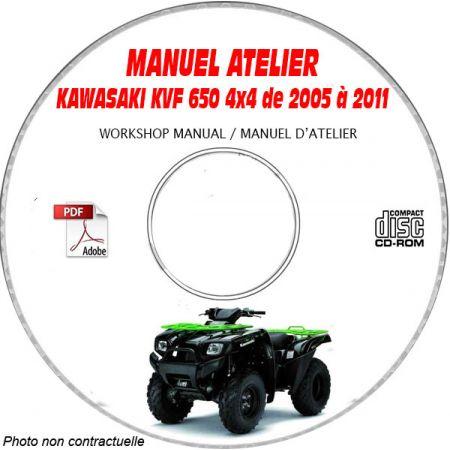 KVF 650 BRUTE FORCE 06 Manuel Atelier CDROM KAWASAKI anglais