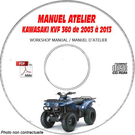 MANUEL D'ATELIER KVF 360 PRAIRIE 4X4