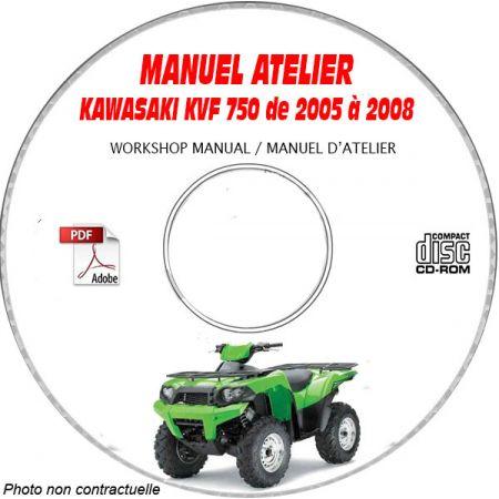 MANUEL D'ATELIER KVF 750 BRUTE FORCE 2003