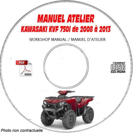KVF 750I 4x4 08-13 - Manuel Atelier CDROM KAWASAKI anglais Revue technique