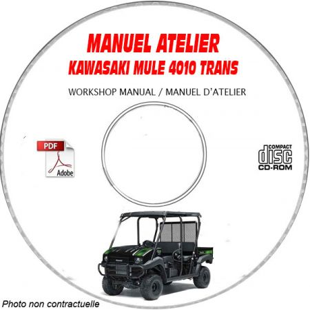 MULE 4010 TRANS - Manuel Atelier CDROM KAWASAKI Anglais