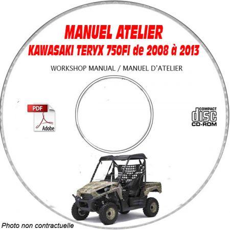 TERYX 750FI 08-13 - Manuel Atelier CDROM KAWASAKI Anglais
