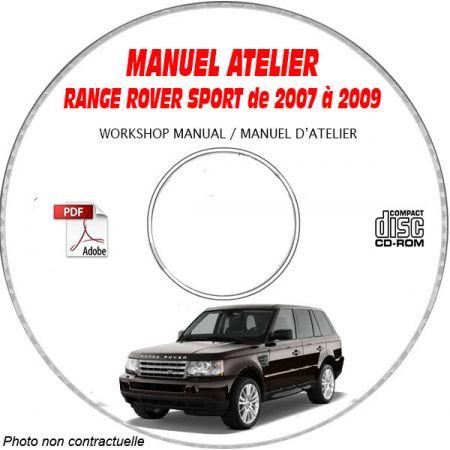 RANGE L320 07-09 - Manuel Atelier CDROM Anglais LAND-ROVER Revue technique
