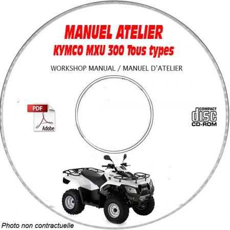 MXU 300 -05 Manuel Atelier CDROM KYMCO Anglais