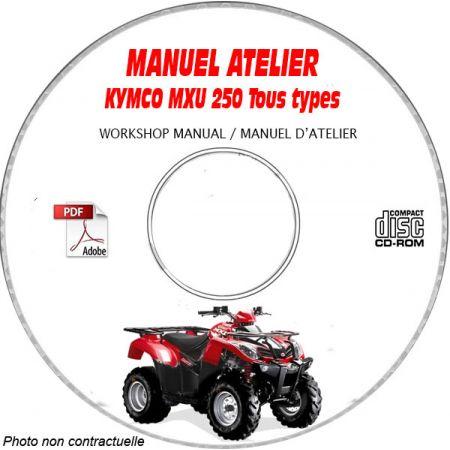 MXU 250 Manuel Atelier CDROM KYMCO Anglais