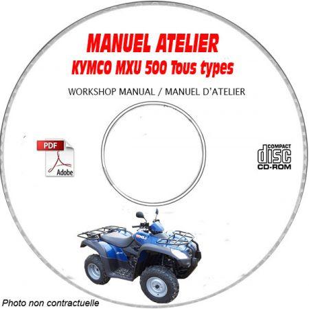 MXU 500 -06 Manuel Atelier CDROM KYMCO Anglais