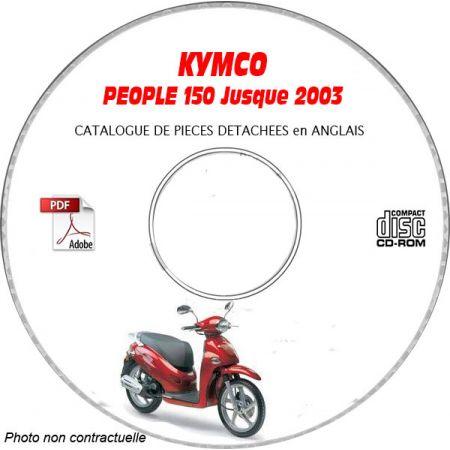 PEOPLE 150 -03 Catalogue Pièces CDROM KYMCO Anglais