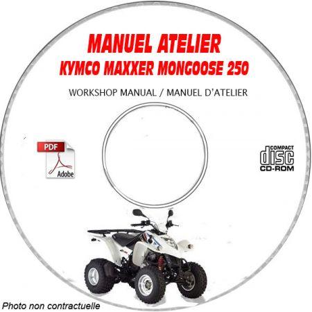 MAXXER 250 -05 Manuel Atelier CDROM KYMCO Anglais