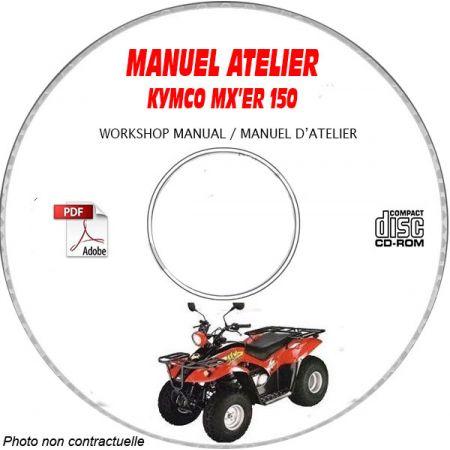 MX'ER 150 Manuel Atelier CDROM KYMCO Anglais