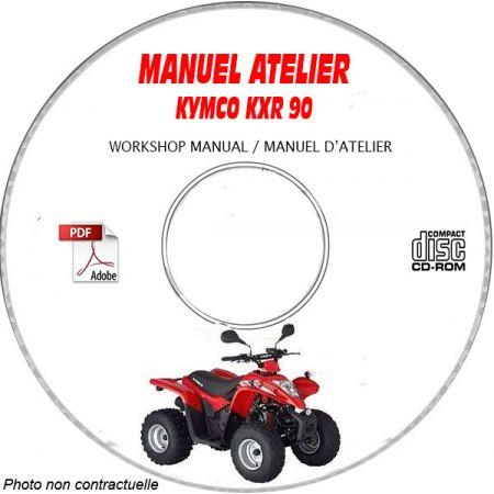 KXR 90 -03 Manuel Atelier CDROM KYMCO Anglais