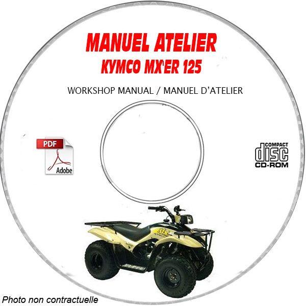 MX'ER 125 Manuel Atelier CDROM KYMCO Anglais