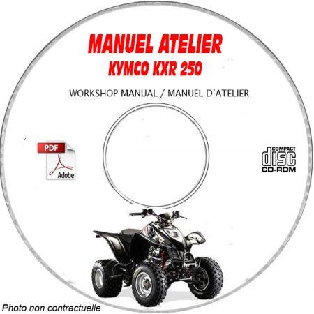 KXR 250 -03 Manuel Atelier CDROM KYMCO Anglais