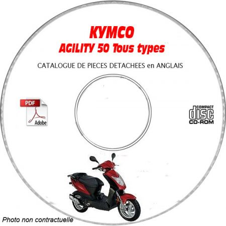 AGILITY 50 Catalogue Pièces CDROM KYMCO Anglais
