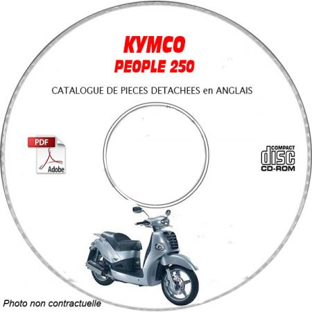 PEOPLE 250 -03 Catalogue Pièces CDROM KYMCO Anglais