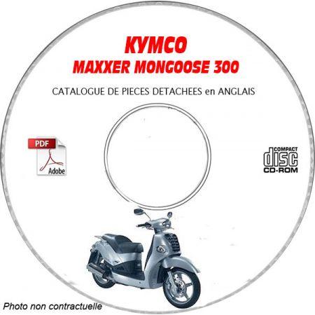 MAXXER 300 -08 Catalogue Pièces CDROM KYMCO Anglais