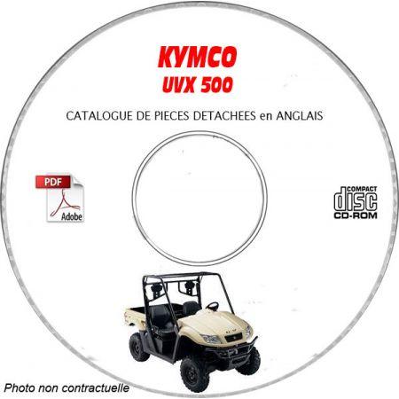 UXV 500 2013 Catalogue Pièces CDROM KYMCO Anglais