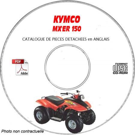 MX'ER 150 -02 Catalogue Pièces CDROM KYMCO Anglais
