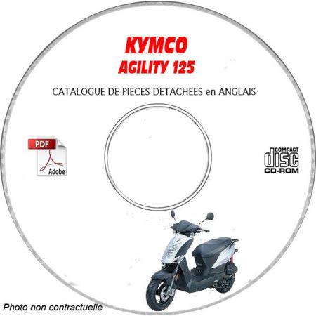 AGILITY 125 Catalogue Pièces CDROM KYMCO Anglais