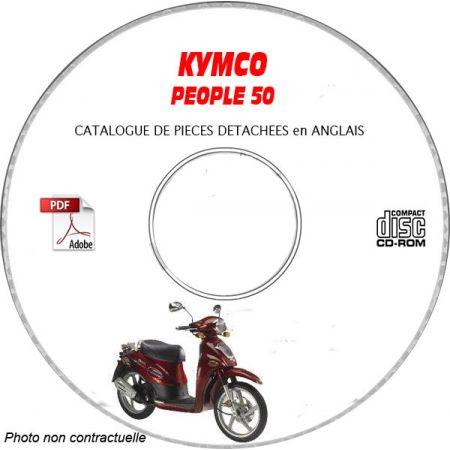 PEOPLE 50 -07 Catalogue Pièces CDROM KYMCO Anglais