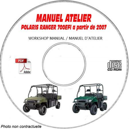 RANGER XP 700 EFI -07 Manuel Atelier CDROM POLARIS Anglais