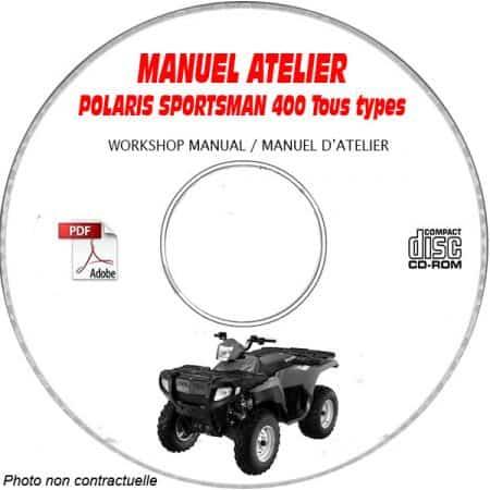 SPORTSMAN 400 2005 Manuel Atelier CDROM POLARIS Anglais