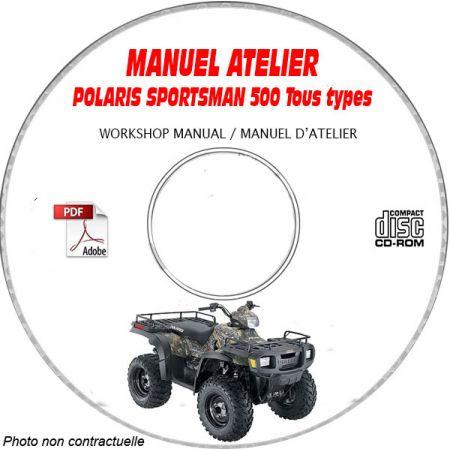 SPORTSMAN 500 2005 Manuel Atelier CDROM POLARIS Anglais