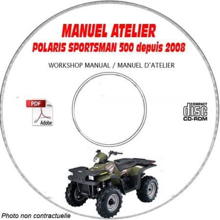 SPORTSMAN 500 2008 Manuel Atelier CDROM POLARIS Anglais