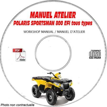 SPORTSMAN 800 EFI - Manuel Atelier CDROM POLARIS Anglais