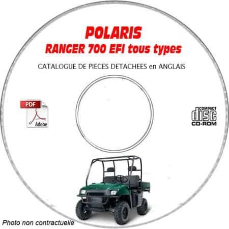 RANGER 700 XP 6X6 Catalogue Pièces CDROM POLARIS Anglais