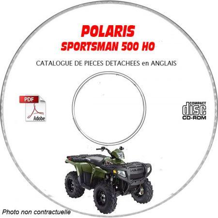 SPORTSMAN 500 HO -05 Catalogue Pièces CDROM POLARIS Anglais
