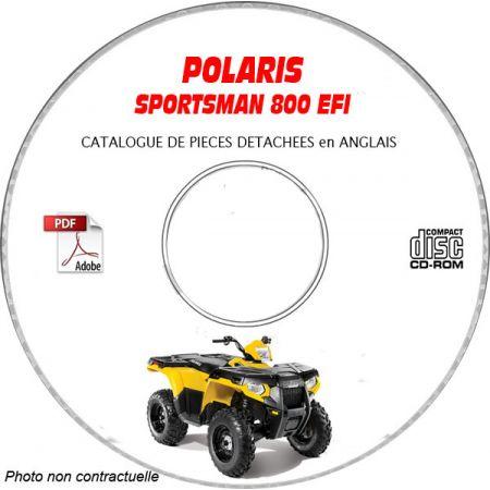 SPORTSMAN 800 EFI -05 Catalogue Pièces CDROM POLARIS Anglais