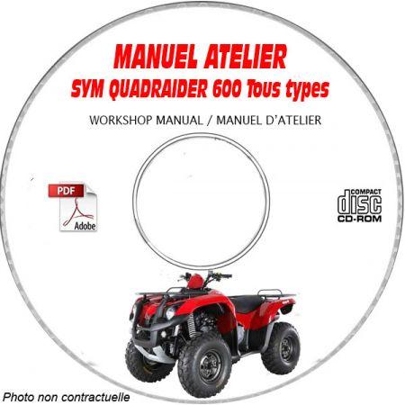 QUADRAIDER 600 - Manuel Atelier CDROM SYM Anglais