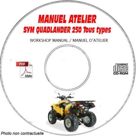 QUADLANDER 250 - Manuel Atelier CDROM SYM Anglais