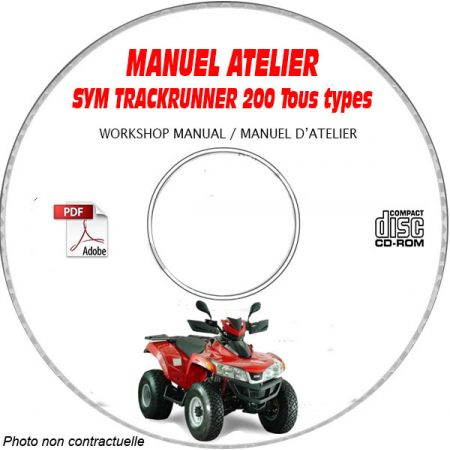TRACKRUNNER 200 - Manuel Atelier CDROM SYM Anglais