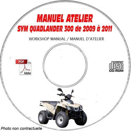 QUADLANDER 300 - Manuel Atelier CDROM SYM Anglais