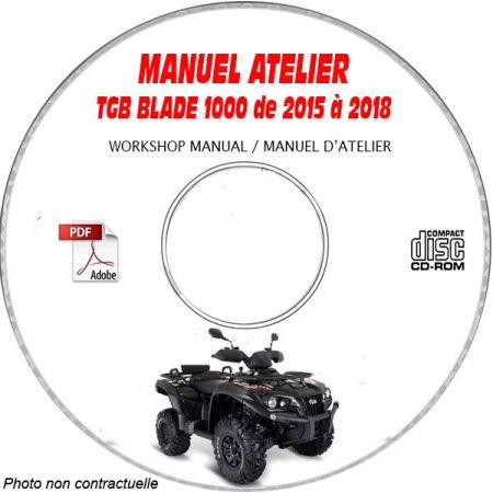 BLADE 1000 15-18 - Manuel Atelier CDROM TGB anglais