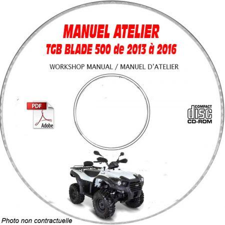 BLADE 500 13-16 - Manuel Atelier CDROM TGB anglais