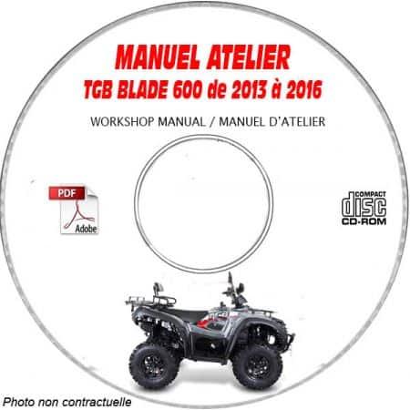 BLADE 600 13-16 - Manuel Atelier CDROM TGB anglais