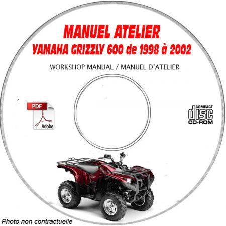 600 GRIZZLY -98 Manuel Atelier CDROM YAMAHA Anglais