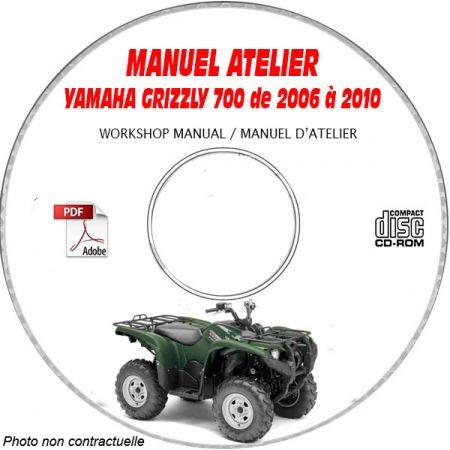 GRIZZLY 700 2007 Manuel Atelier CDROM YAMAHA Anglais