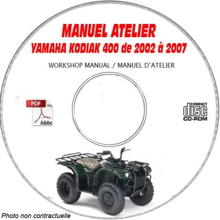 ODIAK 400 2003 Manuel Atelier CDROM YAMAHA Anglais