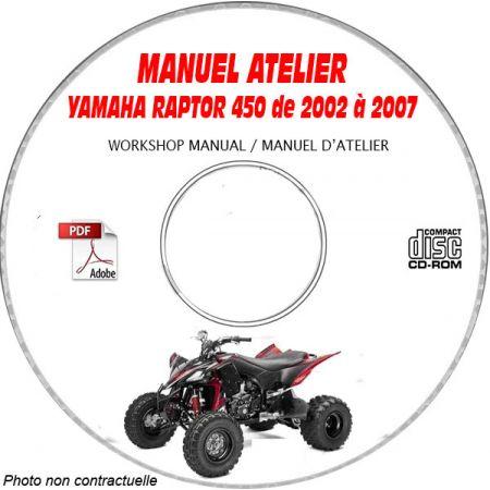 YFZ450S RAPTOR Manuel Atelier CDROM YAMAHA