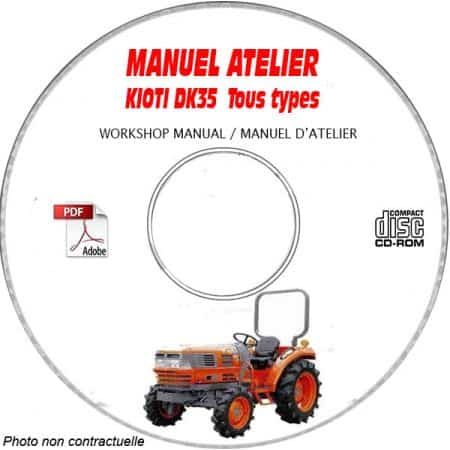 DK35 - Manuel Atelier CDROM KIOTI anglais