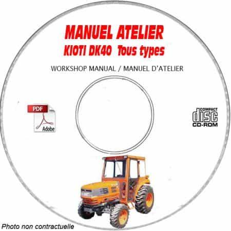 DK40 - Manuel Atelier CDROM KIOTI anglais