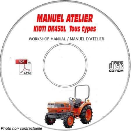 DK450L - Manuel Atelier CDROM KIOTI anglais