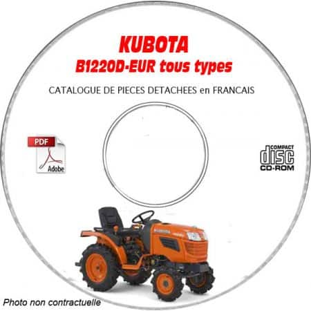 B1220D - Catalogue Pieces CDROM KUBOTA FR
