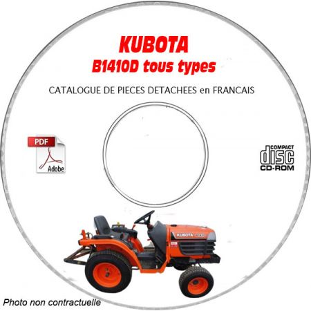 B1410D - Catalogue Pieces CDROM KUBOTA FR