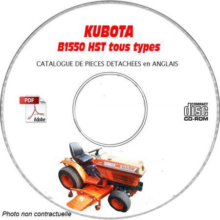 KUBOTA B1550HST-D 89-96 Manuel Pieces CDROM Anglais